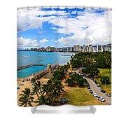 Afternoon On Waikiki Shower Curtain