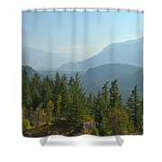 Afternoon Smoke At The Tantalus Mountains Shower Curtain