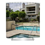 Afternoon Swim Palm Springs Shower Curtain