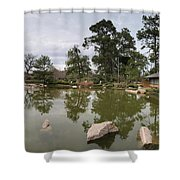 Afternoon Tea House Color Shower Curtain