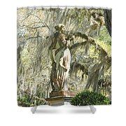 Afton Plantation Villa Statuary Shower Curtain