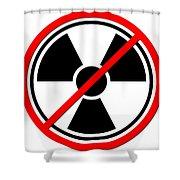 Against Atom Shower Curtain