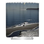 Against The Light - Compton Bay Shower Curtain