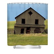 Against The Wind Abandoned Homestead Shower Curtain