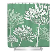 Agapanthus Breeze Shower Curtain