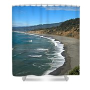 Agate Beach At Patricks Point Shower Curtain by Adam Jewell
