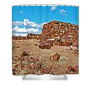 Agate House In Petrified Forest National Park-arizona  Shower Curtain