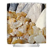 Agate Rocks Beach Art Prints Agates Shower Curtain