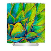Agave Glow Shower Curtain