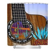 Agave Guitar Shower Curtain