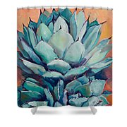 Agave With Pups Shower Curtain