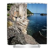 Agawa Pictographs Shower Curtain