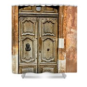 Aged Door In Provence Shower Curtain