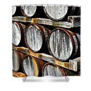 Aged Wine Shower Curtain