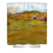 Aged With Character-farm Life Shower Curtain