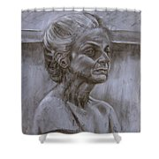 Aged Woman Shower Curtain