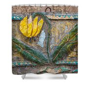Aged Yellow Brilliance Shower Curtain