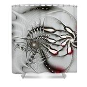 Aggressive Grey Shower Curtain by Anastasiya Malakhova