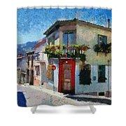 Agiassos Village Shower Curtain