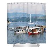 Agios Stefanos Shower Curtain