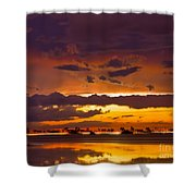 Aglow Shower Curtain