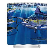 Agressor Off00140 Shower Curtain by Carey Chen