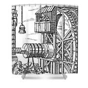 Agricola Water Pump, 1556 Shower Curtain