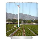 Agricultural Windmills Shower Curtain