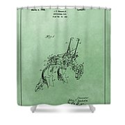 Agriculture Plow Patent Shower Curtain