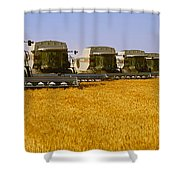 Agriculture - Six Gleaner Combines Shower Curtain