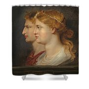 Agrippina And Germanicus Shower Curtain
