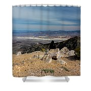Aguereberry Point View Of Death Valley #4 Shower Curtain