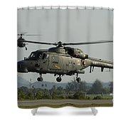 Agustawestland Lynx Helicopters Shower Curtain