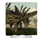 Agustinia Dinosaur Walking Amongst Shower Curtain