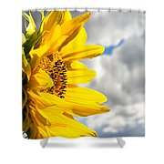 Ah Sunflower Shower Curtain