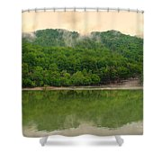 Ahead Of The Falls Shower Curtain
