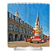 Ahh...new Orleans Impasto Shower Curtain by Steve Harrington