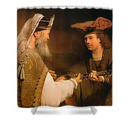 Ahimelech Giving The Sword Of Goliath To David Shower Curtain