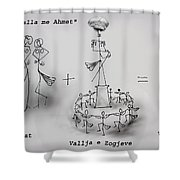 Ahmet Zogu Perralla Me Mbret Shower Curtain