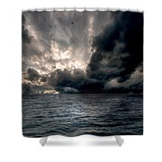Air And Water No.25 Shower Curtain