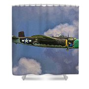 Air Apaches B-25j Shower Curtain