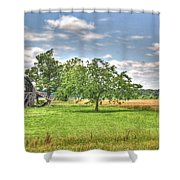 Air Conditioned Barn Shower Curtain