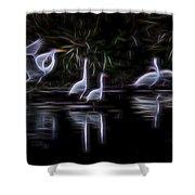 Air Elementals 3 Shower Curtain