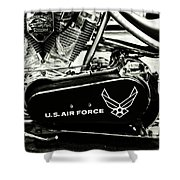 Air Force Motorcycle Shower Curtain