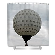 Air Golf  Shower Curtain