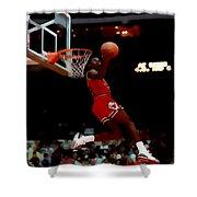 Air Jordan Reverse Slam Shower Curtain