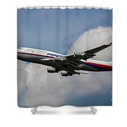 Air Malaysia Boeing 747 Shower Curtain