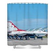 Air Show Thunderbirds  Shower Curtain