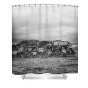 Air Stream Cannibalized Shower Curtain
