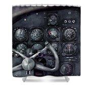 Air - The Cockpit Shower Curtain
